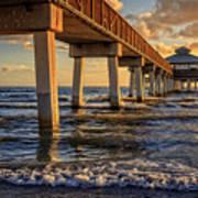 Sunset Fort Myers Beach Fishing Pier Poster