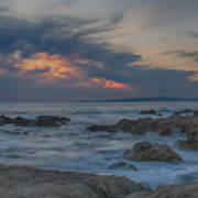 Sunset From Pacific Grove Poster