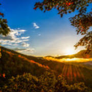 Sunset From The Blue Ridge Parkway Poster