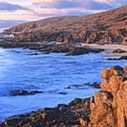 Sunset Glow Along Pacific Coast Poster