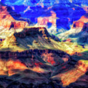 Sunset Glow At Mather Point Poster