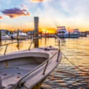 Sunset Harbor Poster
