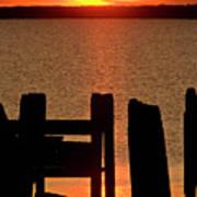 Sunset Hecla Island Manitoba Canada Poster