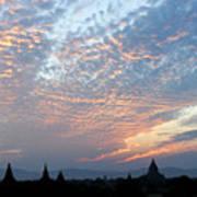 Sunset In Bagan Poster