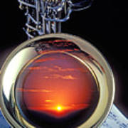Sunset In Bell Of Sax Poster