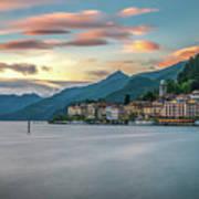 Sunset In Bellagio On Lake Como Poster