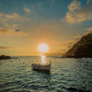 Sunset in Cinque Terre Poster