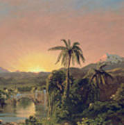 Sunset In Equador Poster