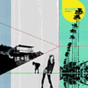 Sunset In La Poster by Naxart Studio