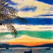 Sunset In Manuel Antonio  Poster
