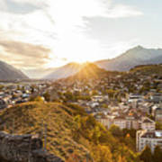 Sunset In Sion Poster
