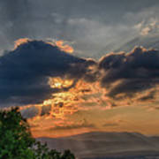 Sunset In The Shenandoah Valley Poster