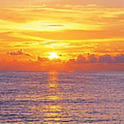 Sunset, Indian Rocks Beach, Florida, Usa Poster