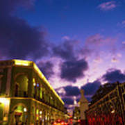 Sunset It Campeche City Downtown Poster