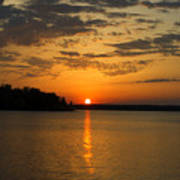 Sunset Lake Pat Mayse From Sanders Cove Poster