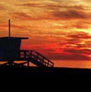 Sunset Lifeguard Station Series Poster