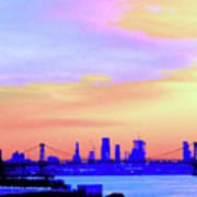 Sunset Lower Manhattan 2c2 Poster