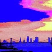 Sunset Lower Manhattan 2c7 Poster