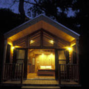 Sunset On A Cabin At El Capitan Canyon Poster