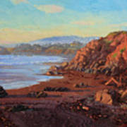 Sunset On Cambria Ca Poster