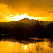 Sunset On Golden Ponds Poster