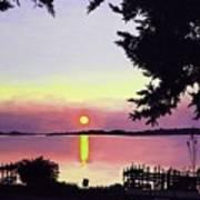 Sunset on Lake Dora Poster