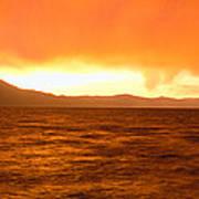 Sunset On Lake Tahoe, California Poster