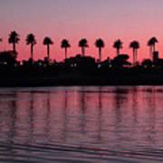 Sunset On Long Beach Bay Poster