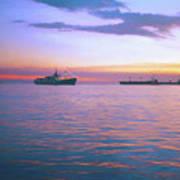 Sunset On Manila Bay Poster