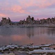 Sunset On Mono Lake Poster