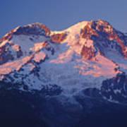 1m4876-sunset On Mt. Rainier  Poster