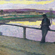 Sunset On Pont Poster