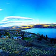 Sunset On Skaha Lake Poster