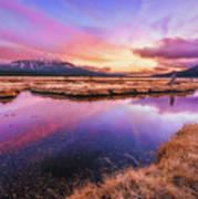 Sunset On Sparks Marsh Poster