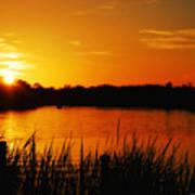 Sunset On The Alafia Poster