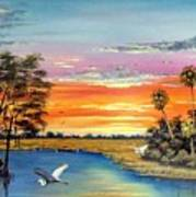 Sunset On The Glades Poster