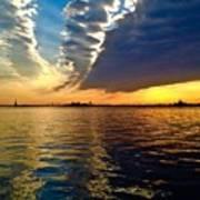 Sunset On The Hudson 03 New York Poster
