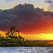 Sunset On The North Shore Of Oahu Poster