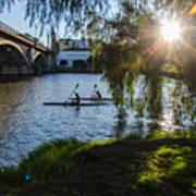 Sunset On The River - Seville  Poster