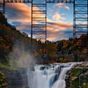 Sunset On The Upper Falls Poster