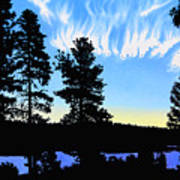 Sunset On Wickiup Poster