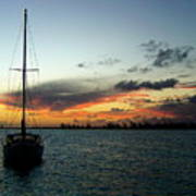 Sunset Over Anegada Poster