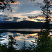Sunset Over Arrow Lake Poster