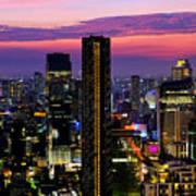 Sunset Over Bangkok Poster