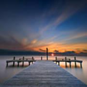 Sunset Over Barnegat Bay Poster