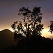 Sunset Over Benog Hill Poster