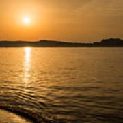 Sunset Over Calvi In Balagne Region Of Corsica Poster