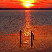 Sunset Over Currituck Sound Poster