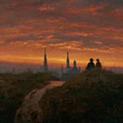 Sunset Over Dresden Poster