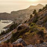 Sunset Over Dubrovnik Poster